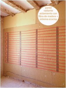 Clicons trabaja con arcilla de ecoclay, aislamiento, pared radiante barcelona